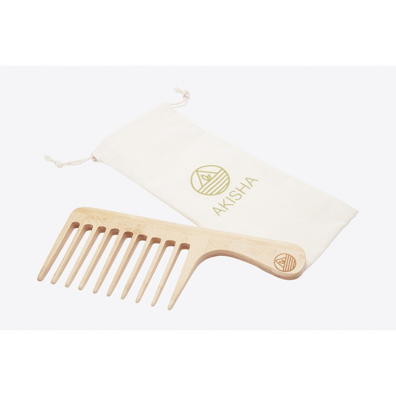 Bamboo comb - Large Teeths - The Coily