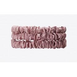 Gentle Kiss Pure Silk Scrunchie Trio - Dreams of Pink