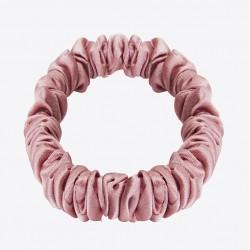 Gentle Kiss 100% pure silk scrunchie - Narrow - Dream of Pink