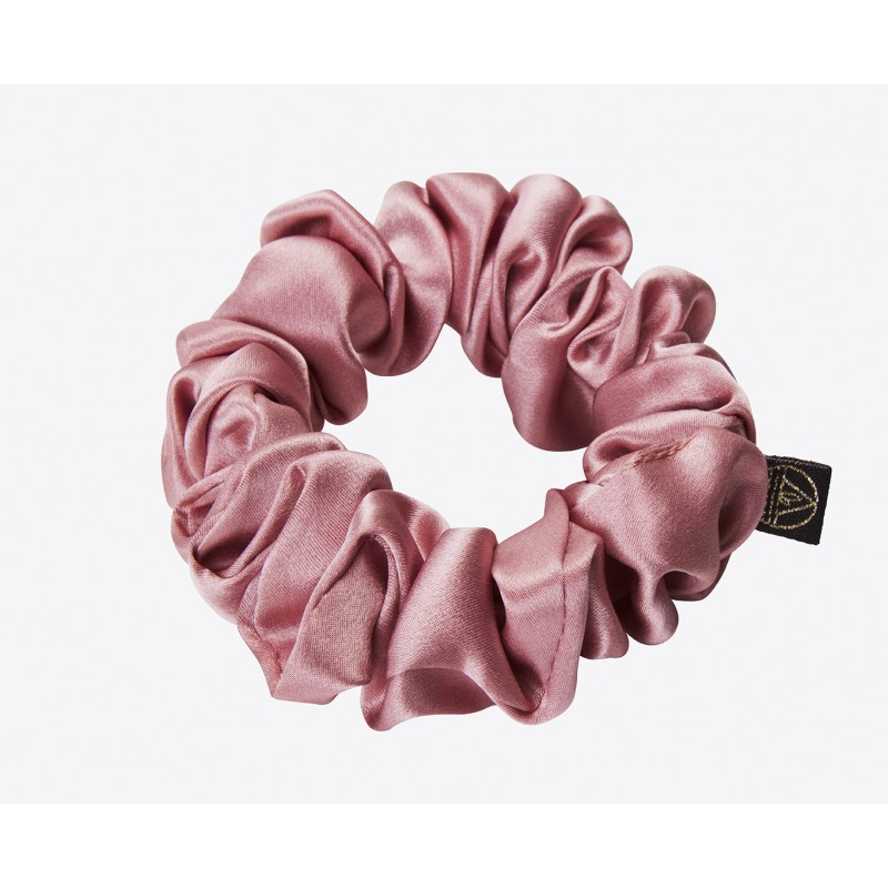 Gentle Kiss 100% pure silk scrunchie - Dreams of Pink - Large