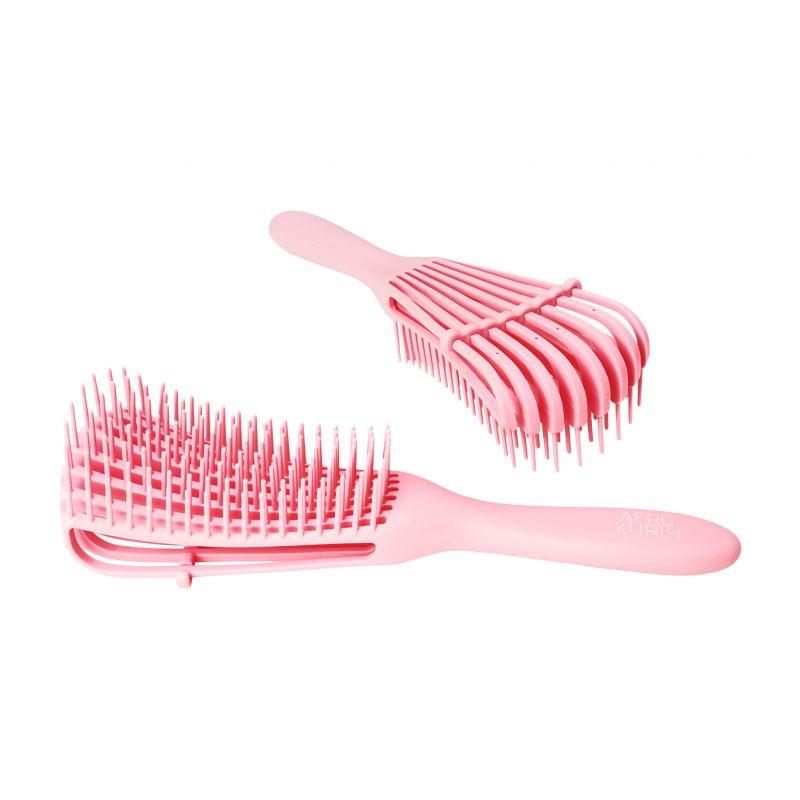 Afro Kurly Brush - Ultra Detangle Brush - Pink