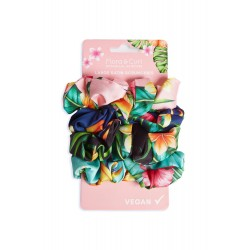 4 Large Satin Scrunchies - Flora & Curl