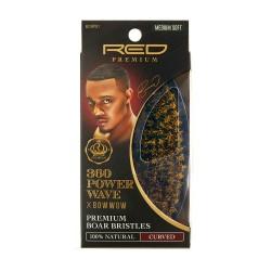 Brush 360 Power Wave - 100% premium Boar Bristle - Medium Soft