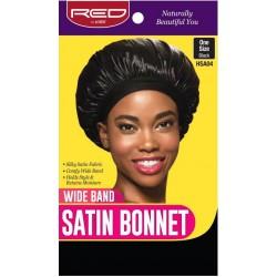 Premium Bonnet en satin - bande de maintien large- Taille Unique