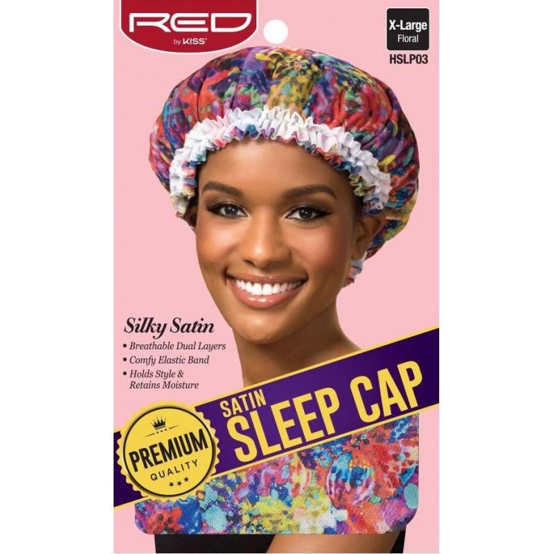 Satin Sleep Cap - X Large - Colored