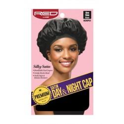 Premium Bonnet en satin doublé - Night and Day cap - bande large