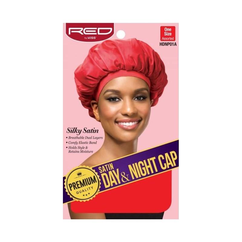 Premium Bonnet en satin doublé - Night and Day cap - bande large - Couleur Aléatoire