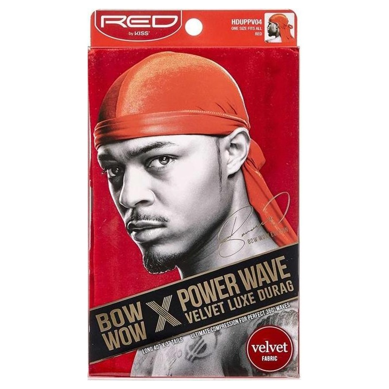 Durag Power Waves - Velours Luxueux - Bow Wow - Rouge