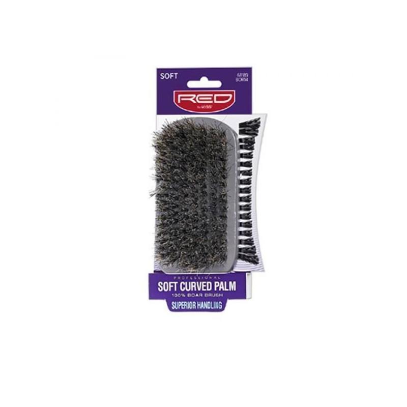 Soft Curved Club Boar Bristle Brush