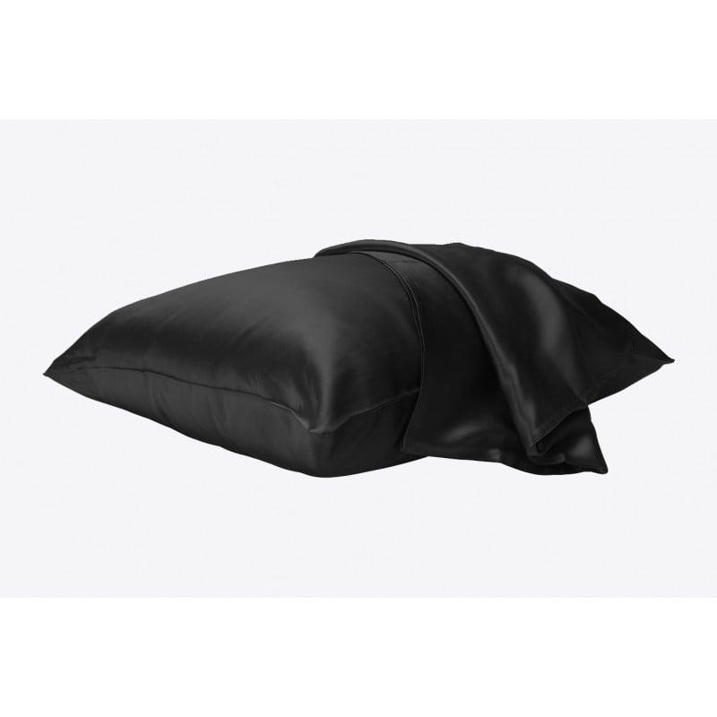100% Pure Silk Pillowcase - Liquorice - 65 x 65 Hidden Zipper