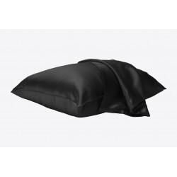 100% Pure Silk Pillowcase - Liquorice 50x70 hidden zipper