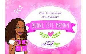 Carte Cadeau Fête des Mères - La meilleure des Mamans - Frisés.
